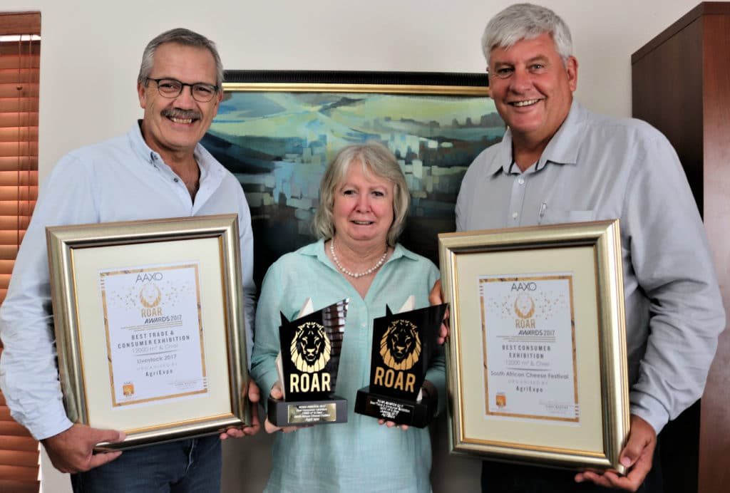 AAXO ROAR Awards Agri-Expo SA Cheese Festival Livestock 2018